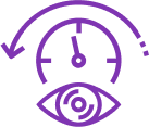 eye with clock graphic