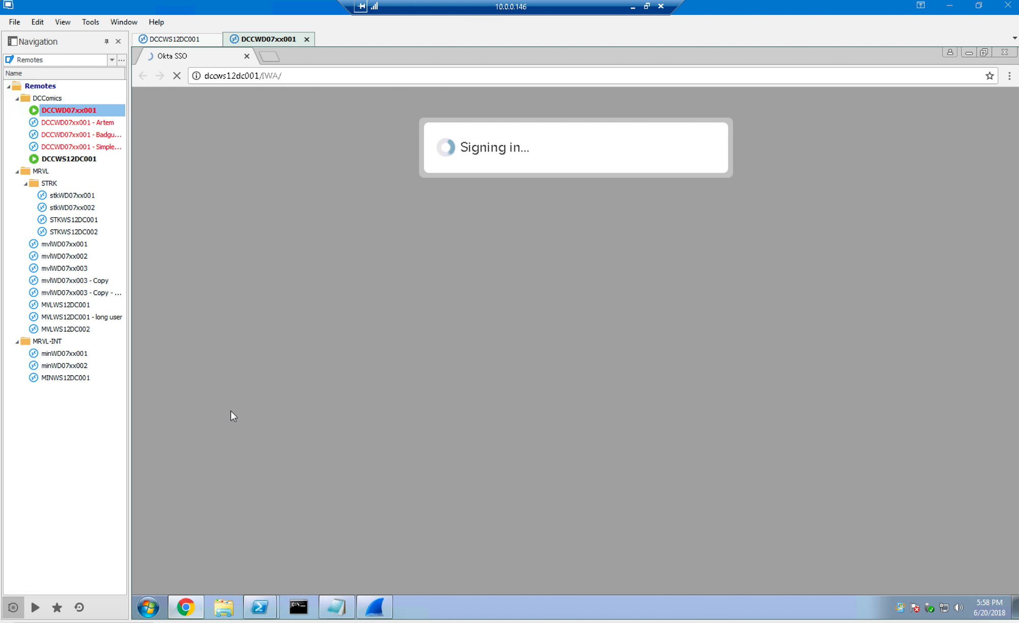 launch chrome session to sso