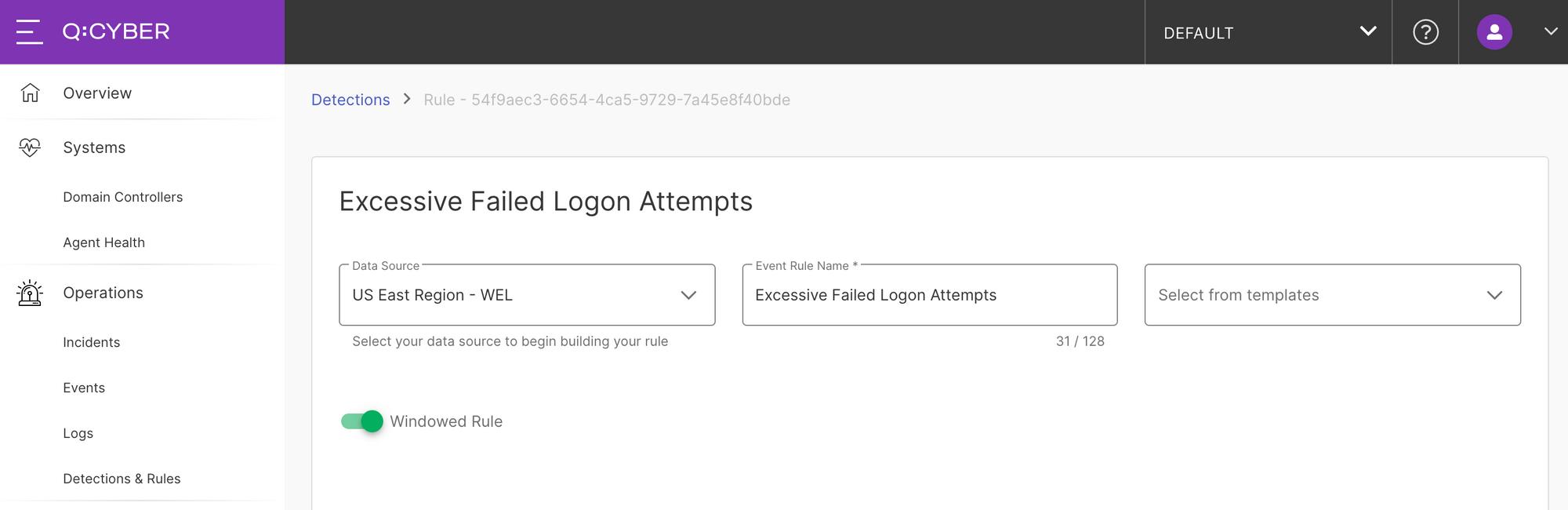 failed login attempts screen