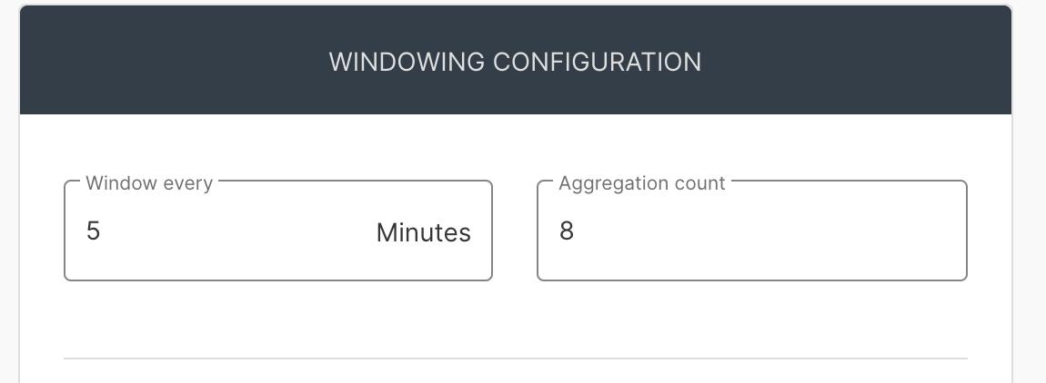 Windows configuration screen